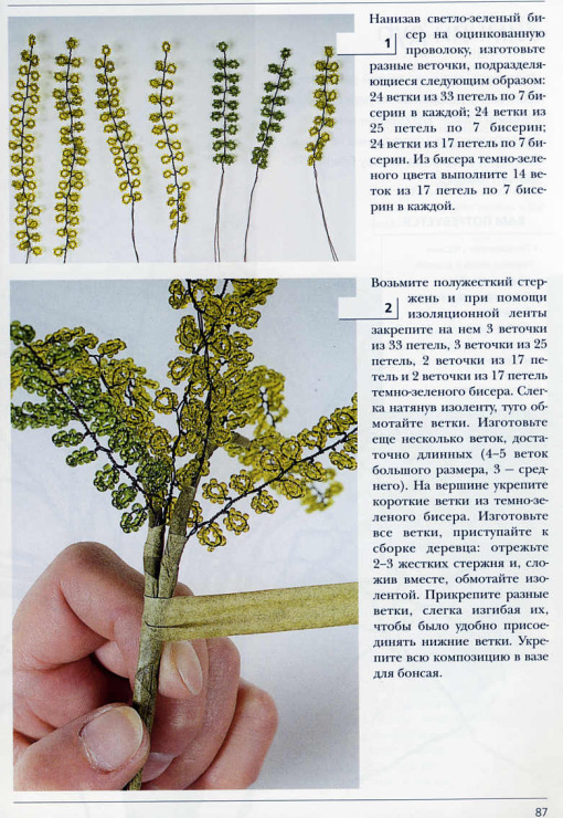 Схемы деревьев из бисера с