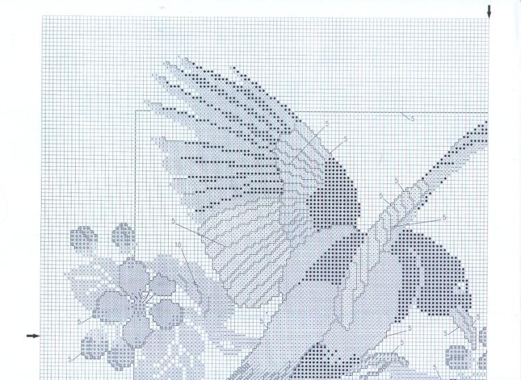 Схема вышивки сороки фото