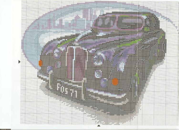 Автомобили ретро вышивка крестом схемы 98