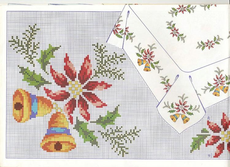 Салфетки вышивка для нового года