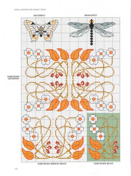 Схемы вышивки в стиле модерн 649