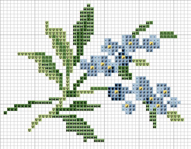 Маленькие вышивки крестом цветов