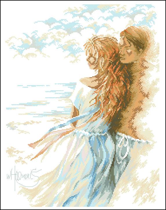 Романтика у моря вышивка