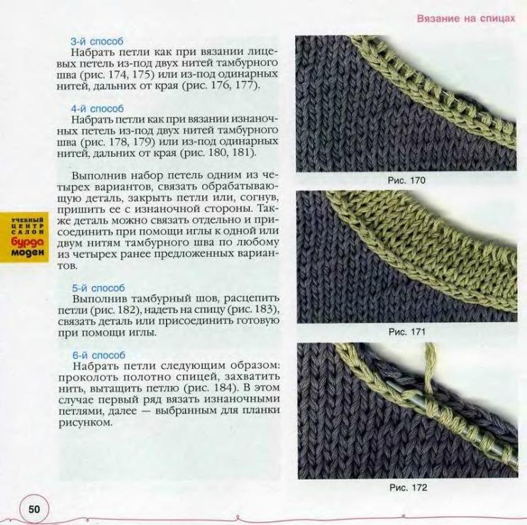 Вязание спицами увеличить количество петель