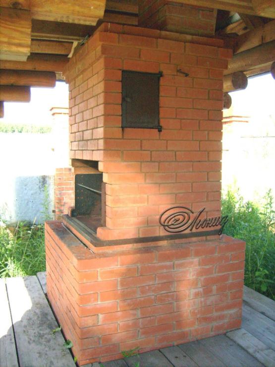 Печь варочная с мангалом и коптильней