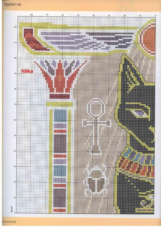 Египет схема вышивки крестом 29