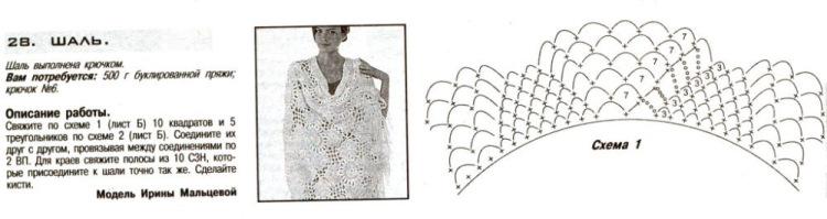 Схемы для вязания крючком из меланжевой пряжи