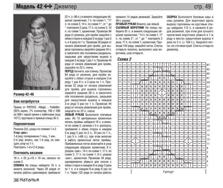 Вязанные свитера женские со схемами спицами женские с описанием