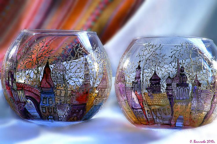 Рисунки по стеклу в домашних условиях
