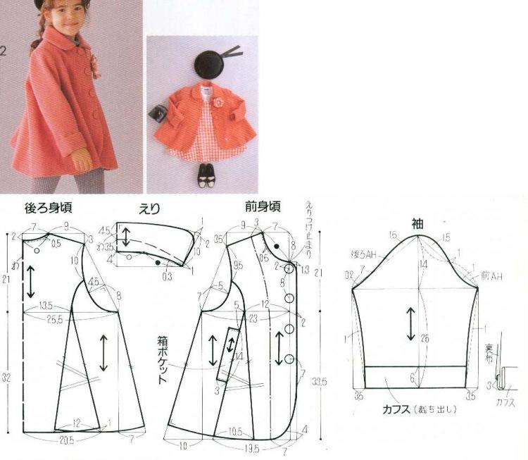 Сшить пальто для девочки 2 года своими руками