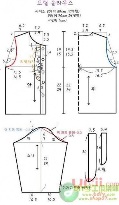 Как сшить блузку девочке 6 лет 79
