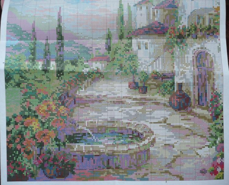 Схема для вышивания: Фонтан в саду. Boomkin s ArtSketchbook 95