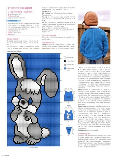Вязание на спицах детских кофточек с рисунками
