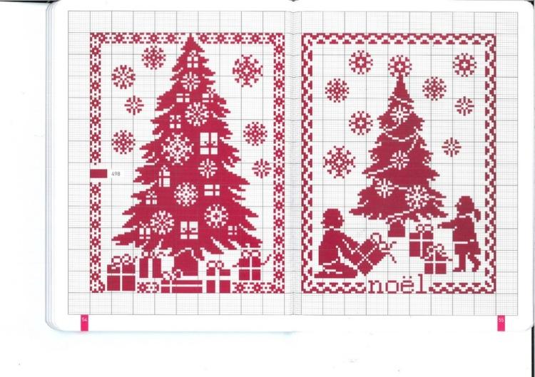 Новогодние дизайны для вышивки