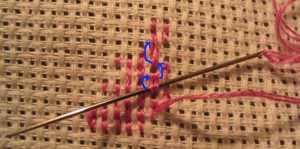 Вышивка крестом без узелков в 3 нити 26