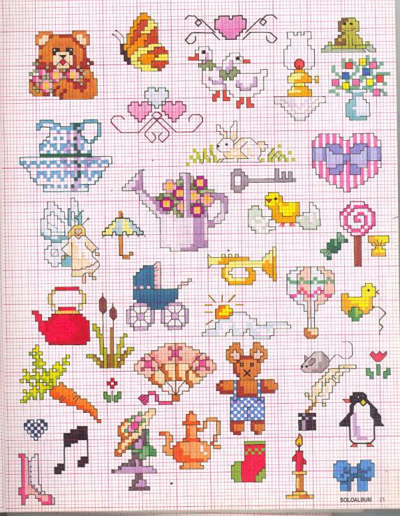 Схемы вышивки детских картинок 85