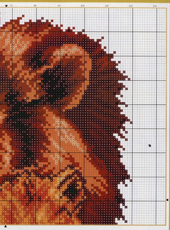 Схемы вышивок крестиком львы 68